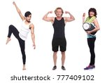 group of sportive people | Shutterstock . vector #777409102