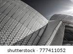 sydney opera house roof tiles...   Shutterstock . vector #777411052