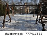 Winter On The Playground In Th...