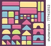 building toy blocks   colored... | Shutterstock .eps vector #777413512
