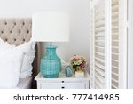 bedside table details in a... | Shutterstock . vector #777414985