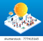 creativity and team data... | Shutterstock .eps vector #777415165