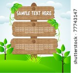 editable wooden sign board with ... | Shutterstock .eps vector #77743147