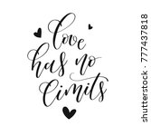 love has no limits. hand... | Shutterstock .eps vector #777437818