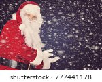 merry christmas and happy santa ... | Shutterstock . vector #777441178