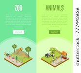 public zoo with wild animals... | Shutterstock .eps vector #777442636