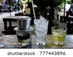 the popular drink in vietnam ... | Shutterstock . vector #777443896