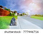 garbage in bag wet waste bag... | Shutterstock . vector #777446716