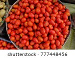 fresh red tomatoes at the rural ... | Shutterstock . vector #777448456