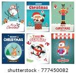 vintage christmas poster design ... | Shutterstock .eps vector #777450082
