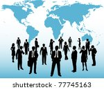 group of busy global business... | Shutterstock . vector #77745163
