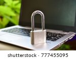 cyber safety concept  locked... | Shutterstock . vector #777455095