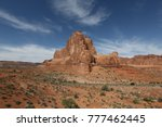 mountain in monument valley in... | Shutterstock . vector #777462445