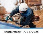 professional industrial climber ... | Shutterstock . vector #777477925