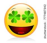 st. patrick's day   emoji | Shutterstock . vector #777487342
