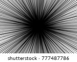 abstract radial white line zoom ... | Shutterstock .eps vector #777487786