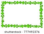 frame made out of clover ... | Shutterstock . vector #777492376