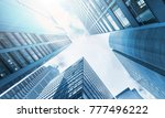 low angle view of skyscrapers | Shutterstock . vector #777496222