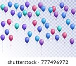 balloons group isolated vector... | Shutterstock .eps vector #777496972