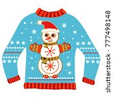 ugly christmas sweater | Shutterstock .eps vector #777498148