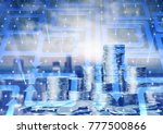 graph and rows with cion | Shutterstock . vector #777500866