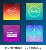 modern vector abstract brochure ... | Shutterstock .eps vector #777505072
