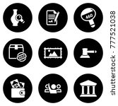set of simple icons on a theme... | Shutterstock .eps vector #777521038
