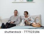 indoor shot of negative annoyed ... | Shutterstock . vector #777523186