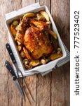 tasty food  grilled chicken... | Shutterstock . vector #777523402