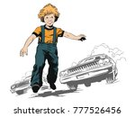 stock illustration. people in... | Shutterstock .eps vector #777526456