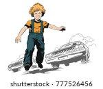 stock illustration. people in... | Shutterstock .eps vector #777526456