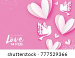all you need is love. origami... | Shutterstock .eps vector #777529366
