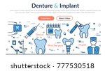 linear web site header template ... | Shutterstock . vector #777530518