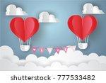 valentine's day concept.love... | Shutterstock .eps vector #777533482