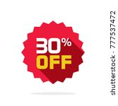 sale tag vector badge template  ... | Shutterstock .eps vector #777537472