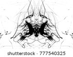 grungy black paint.isolated on...   Shutterstock . vector #777540325