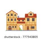 vintage medieval historical...   Shutterstock .eps vector #777543805