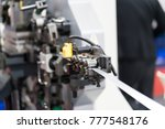 automatic stamping and bending... | Shutterstock . vector #777548176
