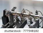 inspection cam shaft runout by... | Shutterstock . vector #777548182