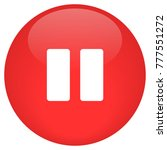 pause button glossy vector   Shutterstock .eps vector #777551272