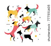 memphis dogs for the cover on...   Shutterstock .eps vector #777551605