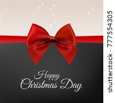 christmas greetings card with... | Shutterstock .eps vector #777554305