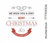 christmas greetings card with... | Shutterstock .eps vector #777554326