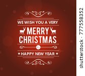 christmas greetings card with... | Shutterstock .eps vector #777558352