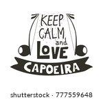 capoeira music logo....   Shutterstock .eps vector #777559648