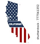 Usa Flag In California Map