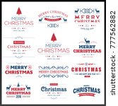 chrismtas typographic sets red... | Shutterstock .eps vector #777562882