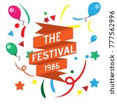 the festival background template | Shutterstock .eps vector #777562996
