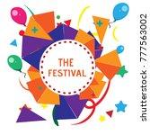 the festival background template   Shutterstock .eps vector #777563002