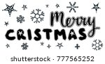 merry christmas caption with... | Shutterstock .eps vector #777565252